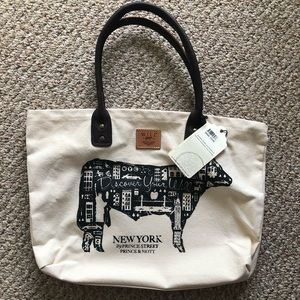 Will Leather Goods canvas and leather tote NWT